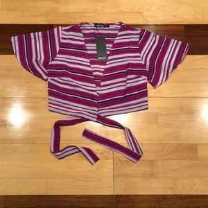 Stripe Away those tears tie top
